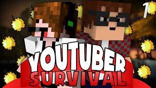 YOUTUBER SURVIVAL?!? | Crazy Craft 3: Youtuber Survival | Ep 1| Minecraft Mods!