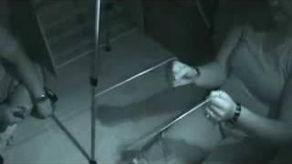 San Antonio Ghost Hunters Private Investigation captures a orb in Infrared on video coming thru wall