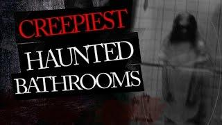 5 Creepy Bathrooms - Real Ghost Caught on Tape