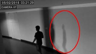 A Shadow Following A Boy Caught On CCTV Camera!! Mysterious Ghost Footage