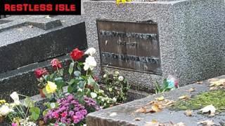 Jim Morrison's Grave 2016 Père Lachaise Cemetery in Paris.
