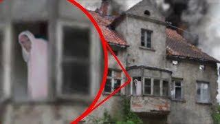 Ghostly Figure Caught on Camera From Abandoned House ! Scary Video Footage 2017