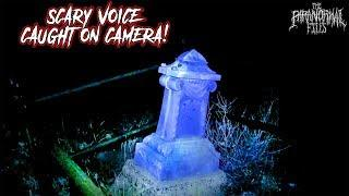 SCARY SPIRIT VOICE (EVP) on Camera in This Abandoned Cemetery in Arizona | THE PARANORMAL FILES