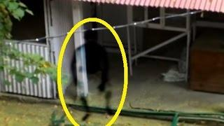Real Ghost Sightings Captured On CCTV Outside Old Haunted House