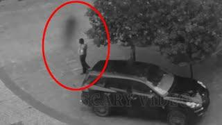 Ghost Shadow Footage Caught On Tape Near A Security Guard!! Ghost Video Compilation