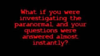 RT-EVP Answers from thin air!