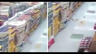 Cámara de seguridad muestra actividad poltergeist en un supermercado