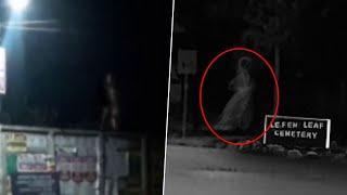 White Spirit Shade Noticed From The Dark Lefem Leaf Cemetery!! Ghost Caught On Camera!!