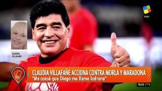 maradona vs claudia / NOTICIAS DE HOY, 19 DE ABRIL / Me hinché las pelotas de Diego!