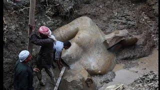 Giant 3,000-year-old statue of Pharaoh Ramses II found buried in a Cairo slum