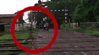 "Ghost Spotted on Railway Tracks!!""Haunted"" railroad tracks!!! Real ghost caught on camera"