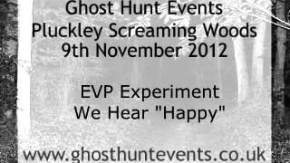 Pluckley Screaming Woods real ghost voice EVP