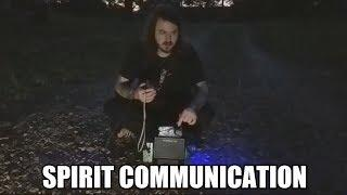 Talking To Spirits In A Haunted Cemetery With A Ghost Box (ITC)