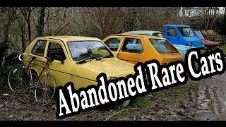 Old Abandoned Rare Cars - Reliant Robin Graveyard in Wales. Abandoned Rusty Vehicles 2016