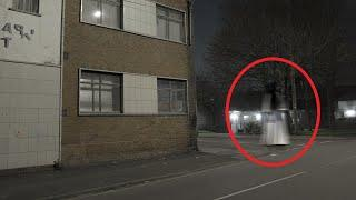 OMG!! Real CCTV Shows A Huge Ghost Shadow Walking Outside An Abandoned House